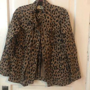 Rachel Roy leopard print jacket